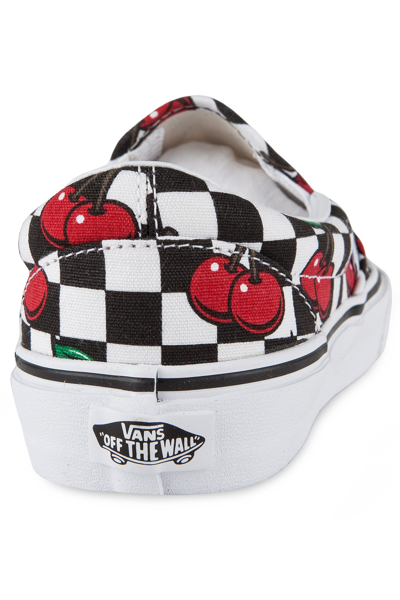 vans classic slip on schuh women cherry checkers black true white kaufen bei skatedeluxe. Black Bedroom Furniture Sets. Home Design Ideas