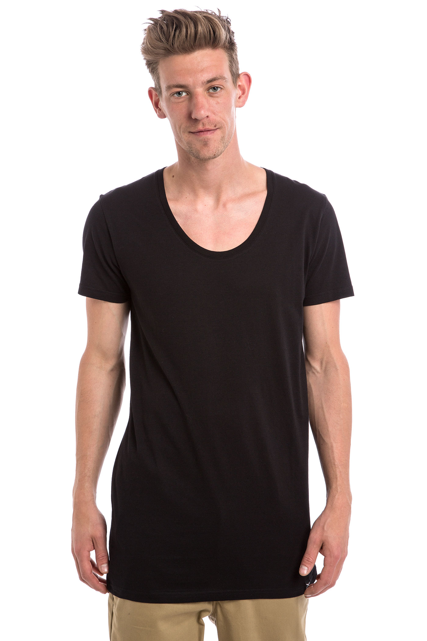 iriedaily long subneck t shirt black buy at skatedeluxe. Black Bedroom Furniture Sets. Home Design Ideas