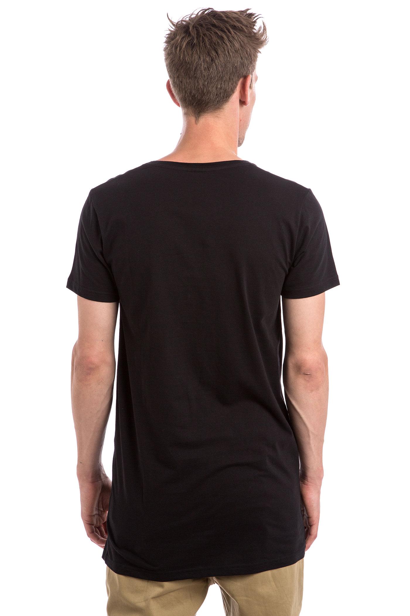 iriedaily long subneck t shirt black kaufen bei skatedeluxe. Black Bedroom Furniture Sets. Home Design Ideas