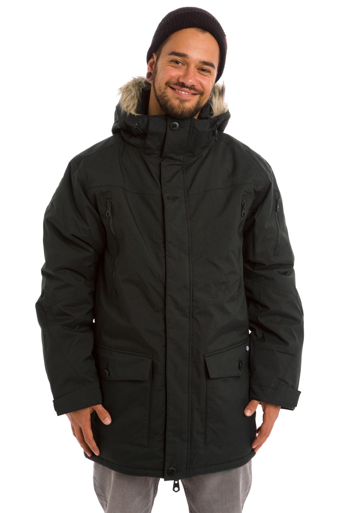 Dickies glen haven jacke black kaufen bei skatedeluxe for Glen haven