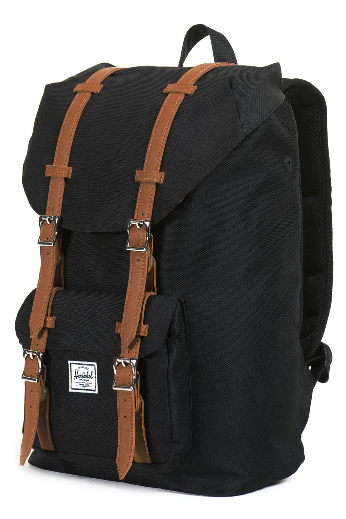 herschel little america mid volume backpack 16 5l black. Black Bedroom Furniture Sets. Home Design Ideas