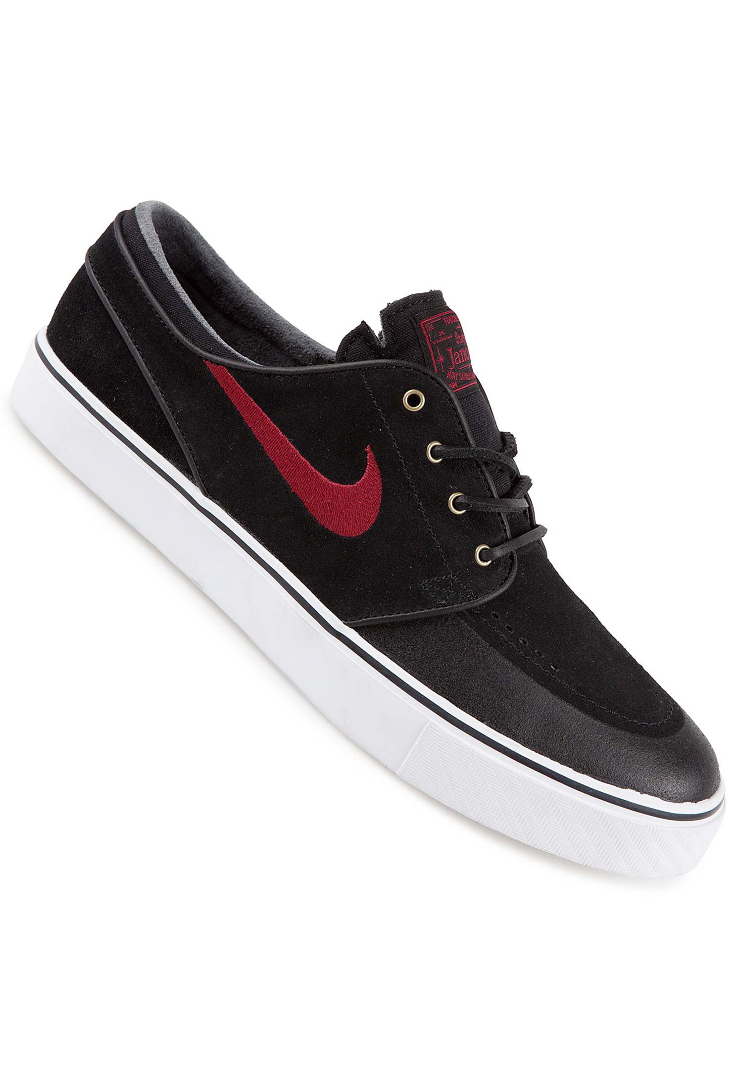 nike sb zoom stefan janoski premium se shoe black team red buy at skatedeluxe. Black Bedroom Furniture Sets. Home Design Ideas
