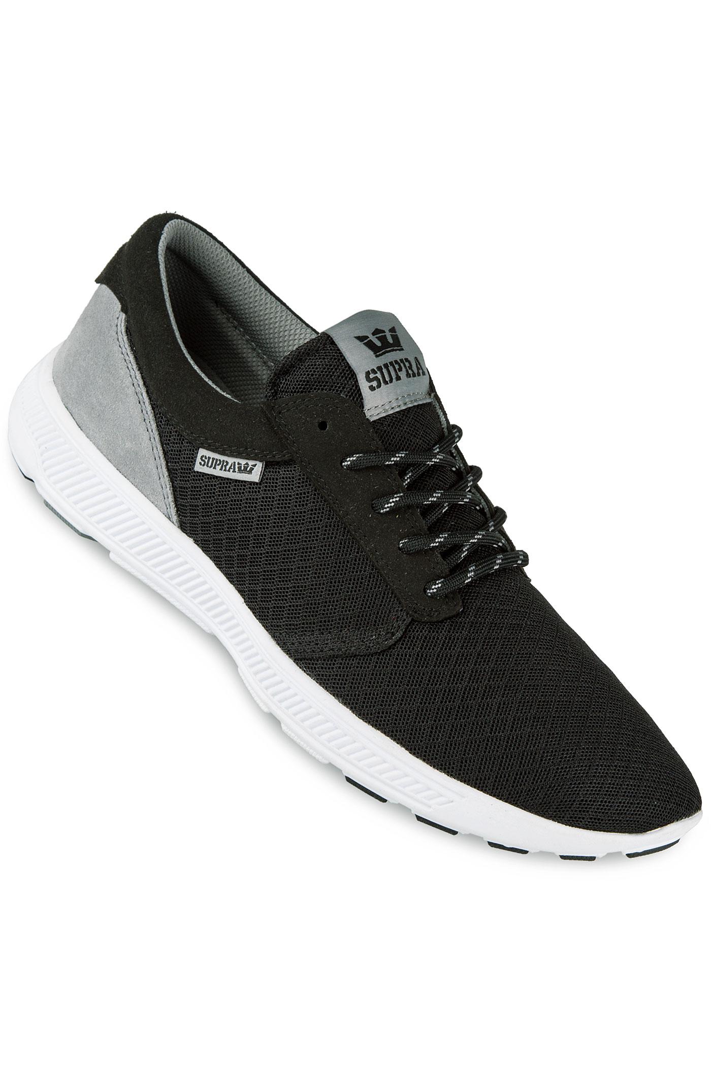 supra hammer run shoe black grey white buy at skatedeluxe. Black Bedroom Furniture Sets. Home Design Ideas
