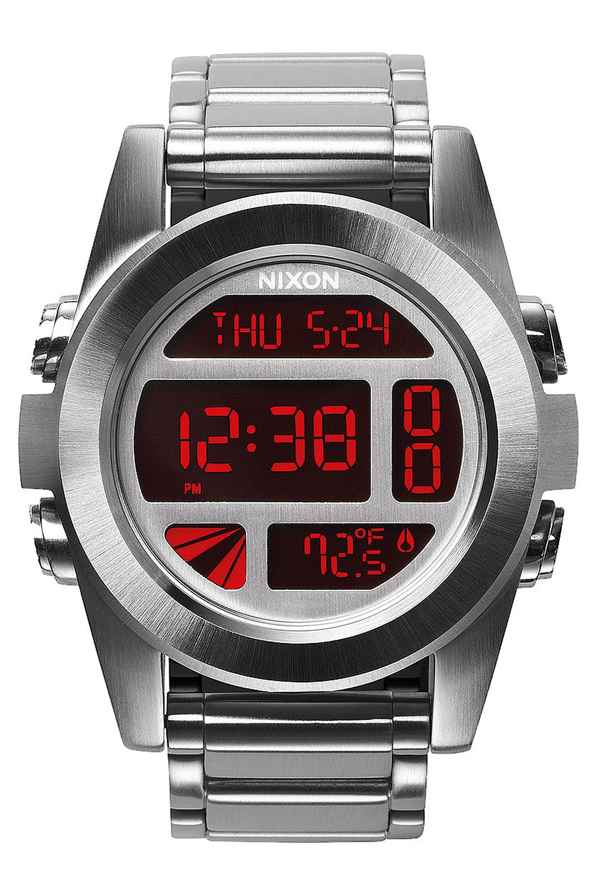91305_0_Nixon_TheUnitSS Elegantes Uhr Mit Temperaturanzeige Dekorationen