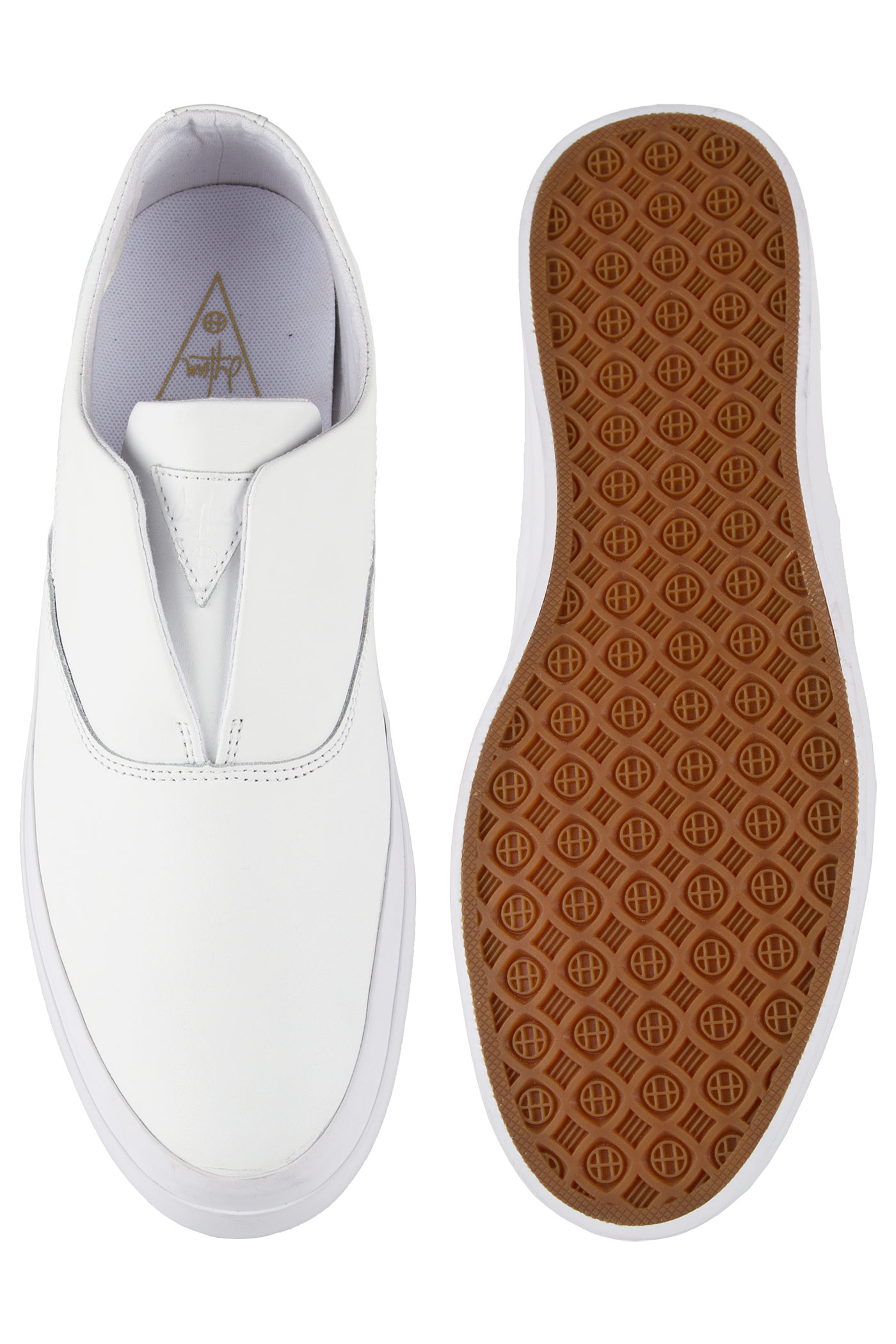 huf slip on leather shoe white buy at skatedeluxe
