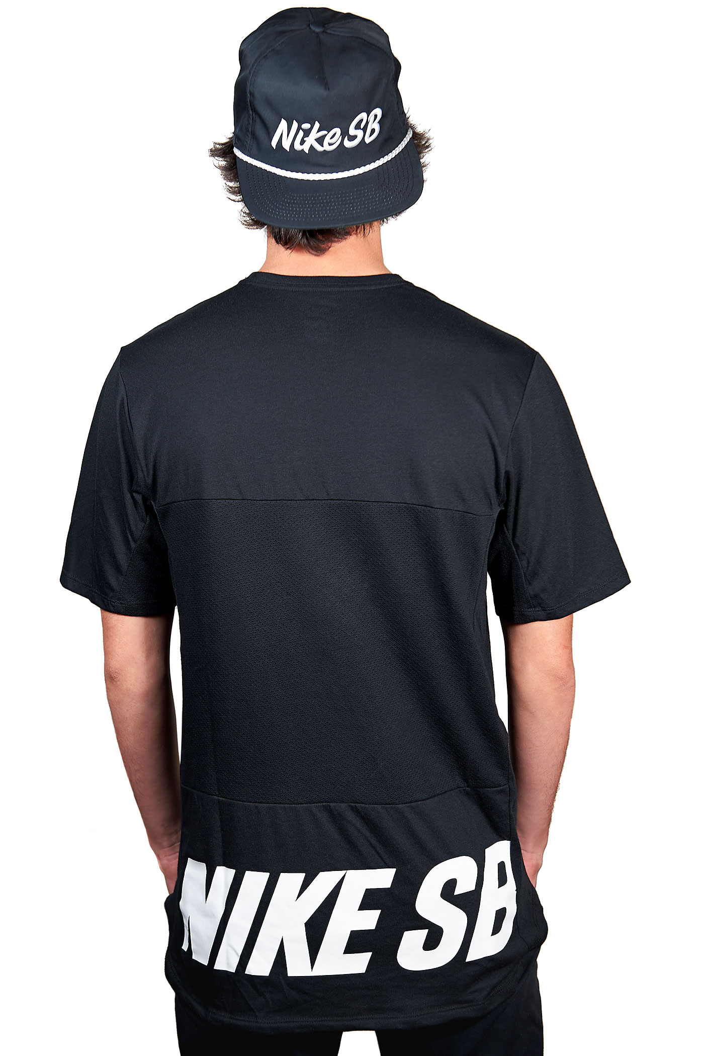Nike sb skyline dri fit graphic t shirt black white buy for Nike sb galaxy shirt