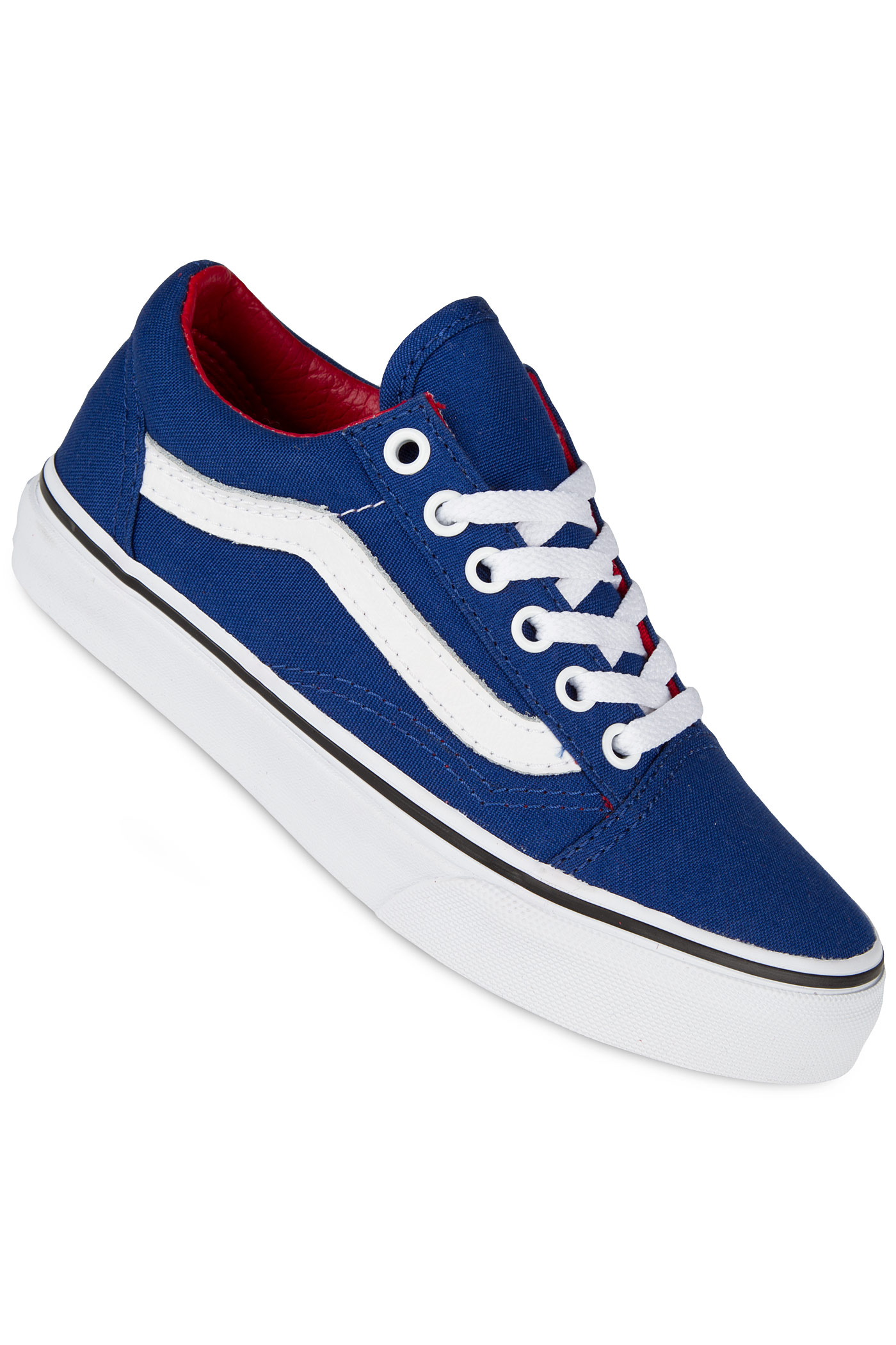 vans old skool canvas shoe kids true blue racing red buy. Black Bedroom Furniture Sets. Home Design Ideas