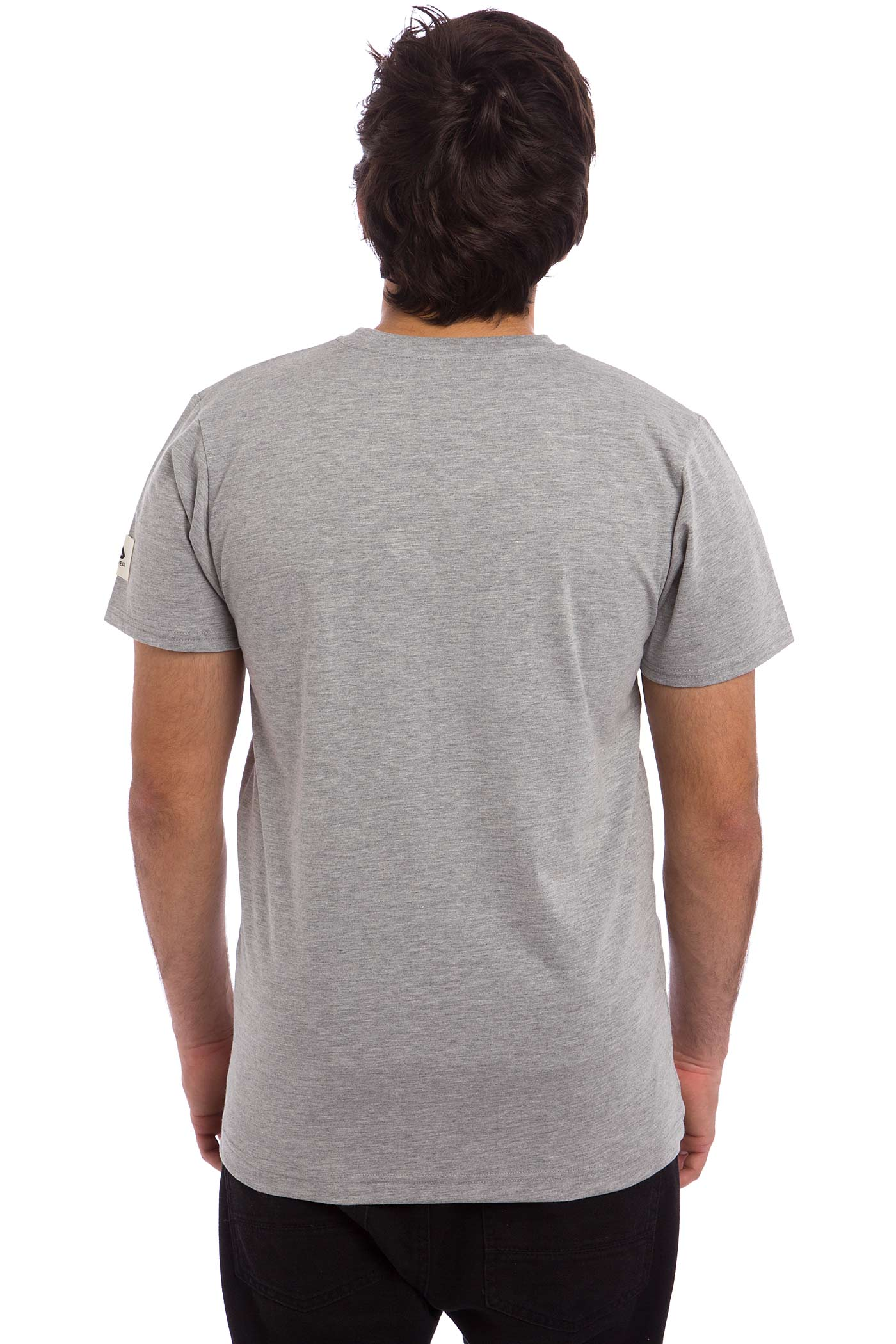 Anuell Plain T Shirt Heather Grey Buy At Skatedeluxe