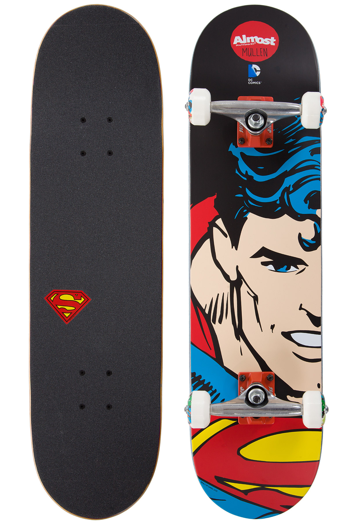 "Almost Mullen Superman Split Face 8"" Complete-Skateboard"