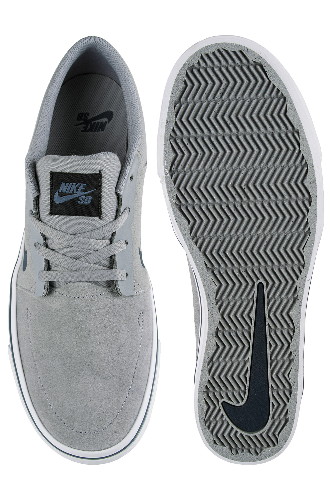 nike sb portmore chaussure grey squadron blue achetez sur skatedeluxe. Black Bedroom Furniture Sets. Home Design Ideas
