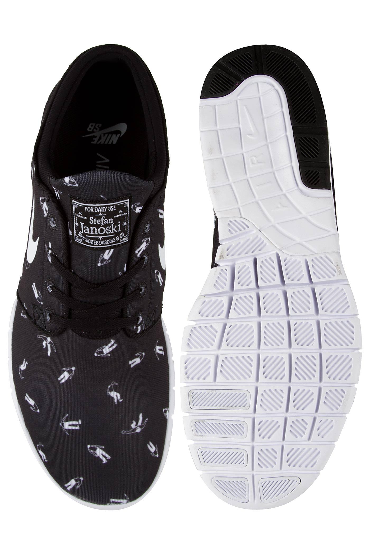 1da3c5fc5dea Nike SB Stefan Janoski Max Premium Shoe (black white) buy at skatedeluxe