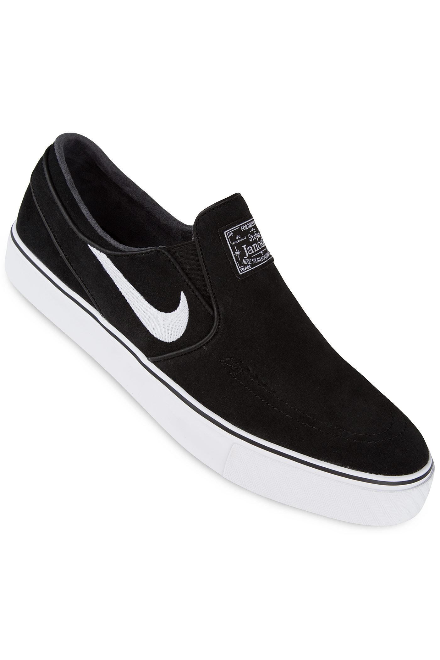 nike sb zoom stefan janoski slip shoes black white buy