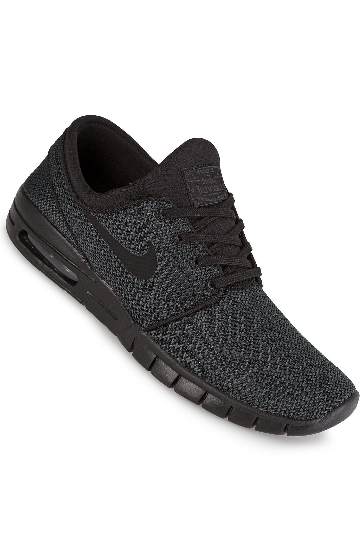 nike sb zoom stefan janoski max chaussure black black achetez sur skatedeluxe. Black Bedroom Furniture Sets. Home Design Ideas
