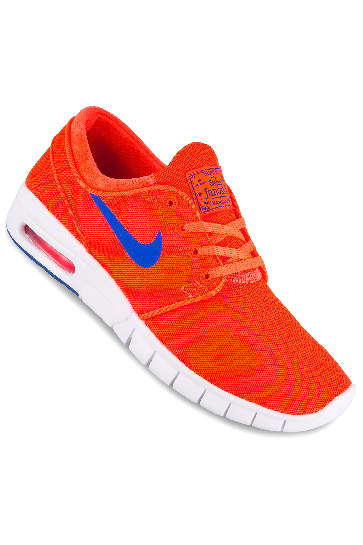 nike sb stefan janoski max shoe total crimson racer blue. Black Bedroom Furniture Sets. Home Design Ideas