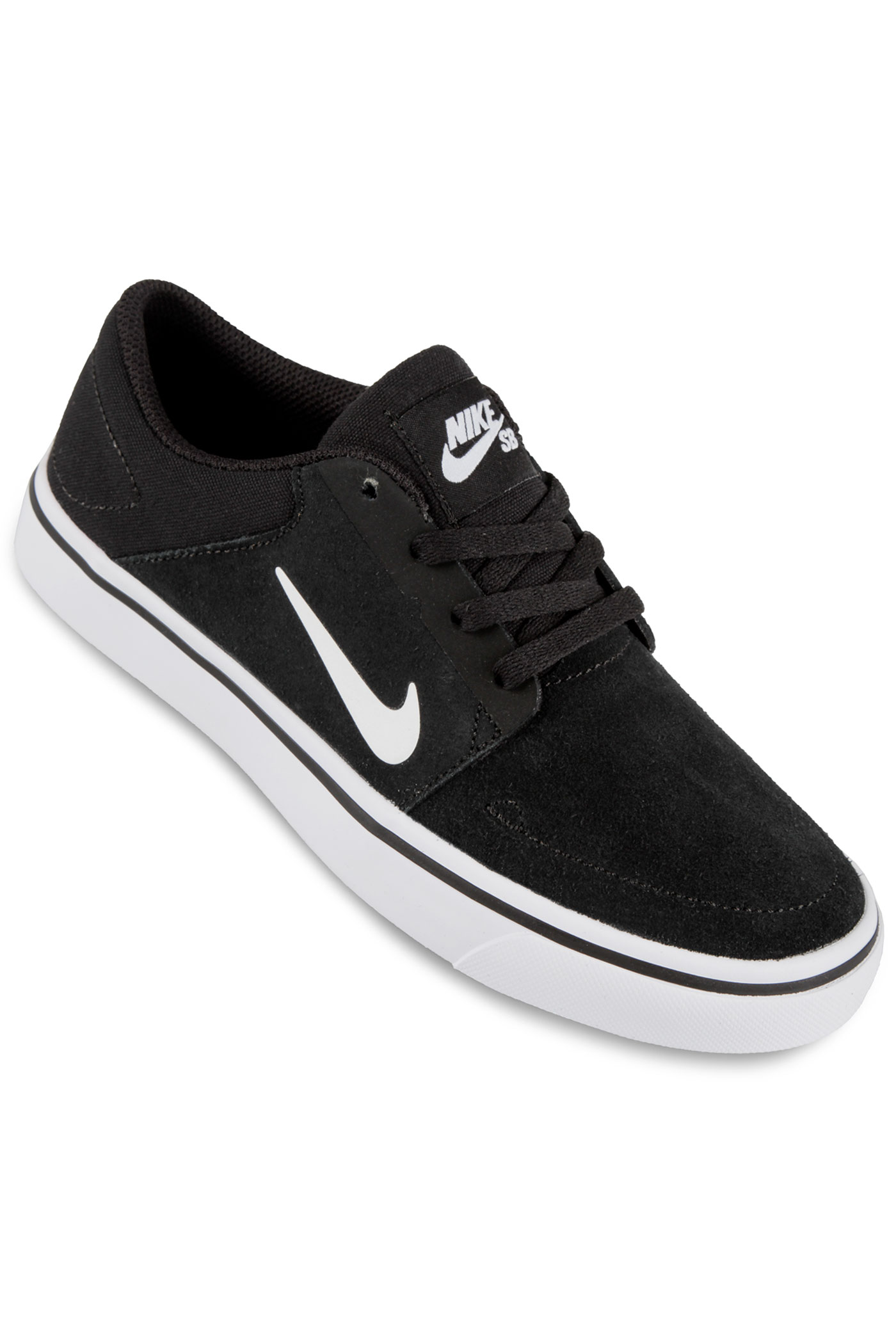Nike Sb Portmore Shoes Kids Black White Buy At Skatedeluxe