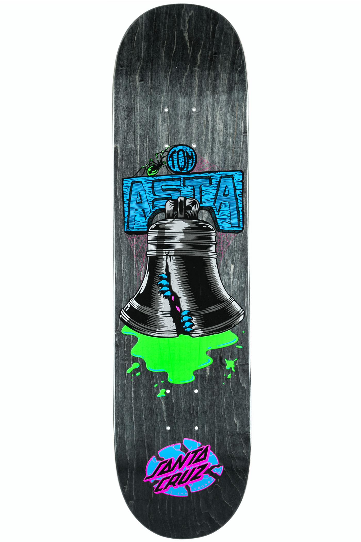 Santa Cruz Asta Bell 8 Quot Deck Black Buy At Skatedeluxe