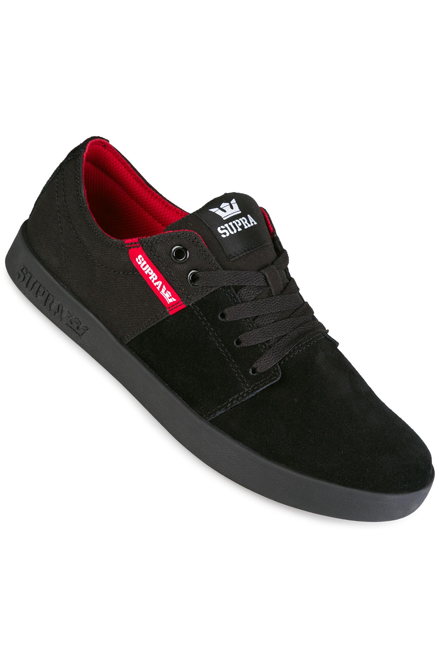 Supra Stacks II Shoe (black red black) buy at skatedeluxe e5ce7483b