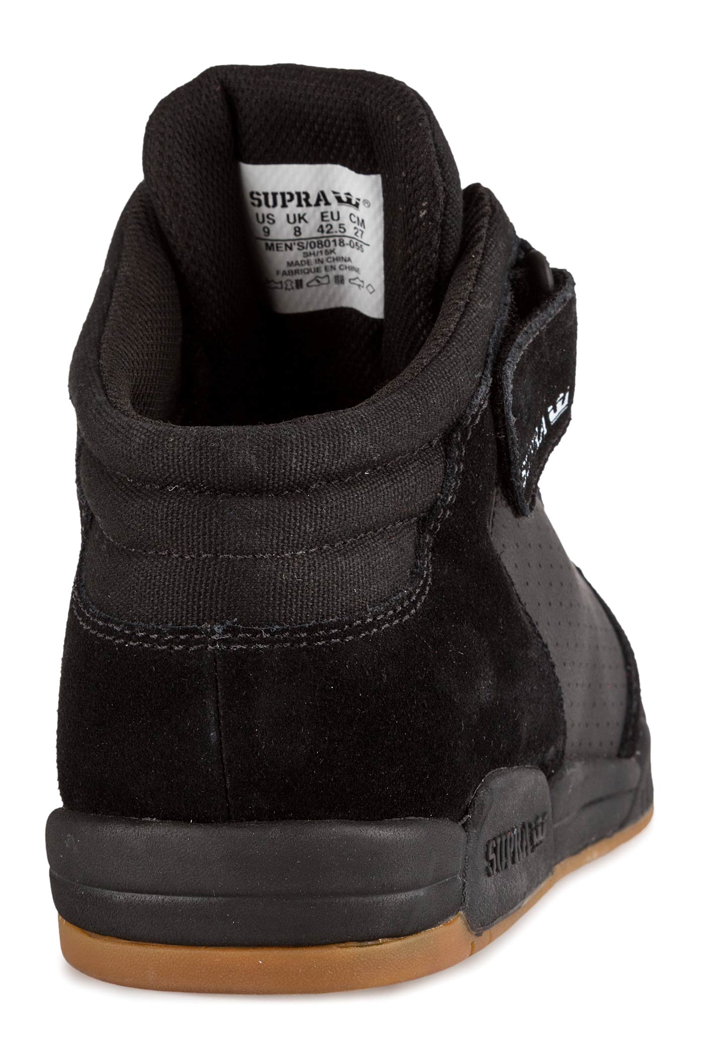 6d6839928f52 Supra Ellington Strap Shoe (black gum) buy at skatedeluxe