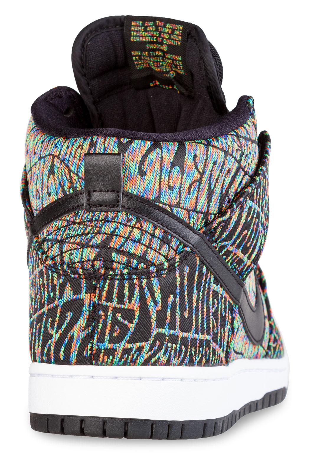 Nike Sb Dunk High Premium Sneaker black rainbow