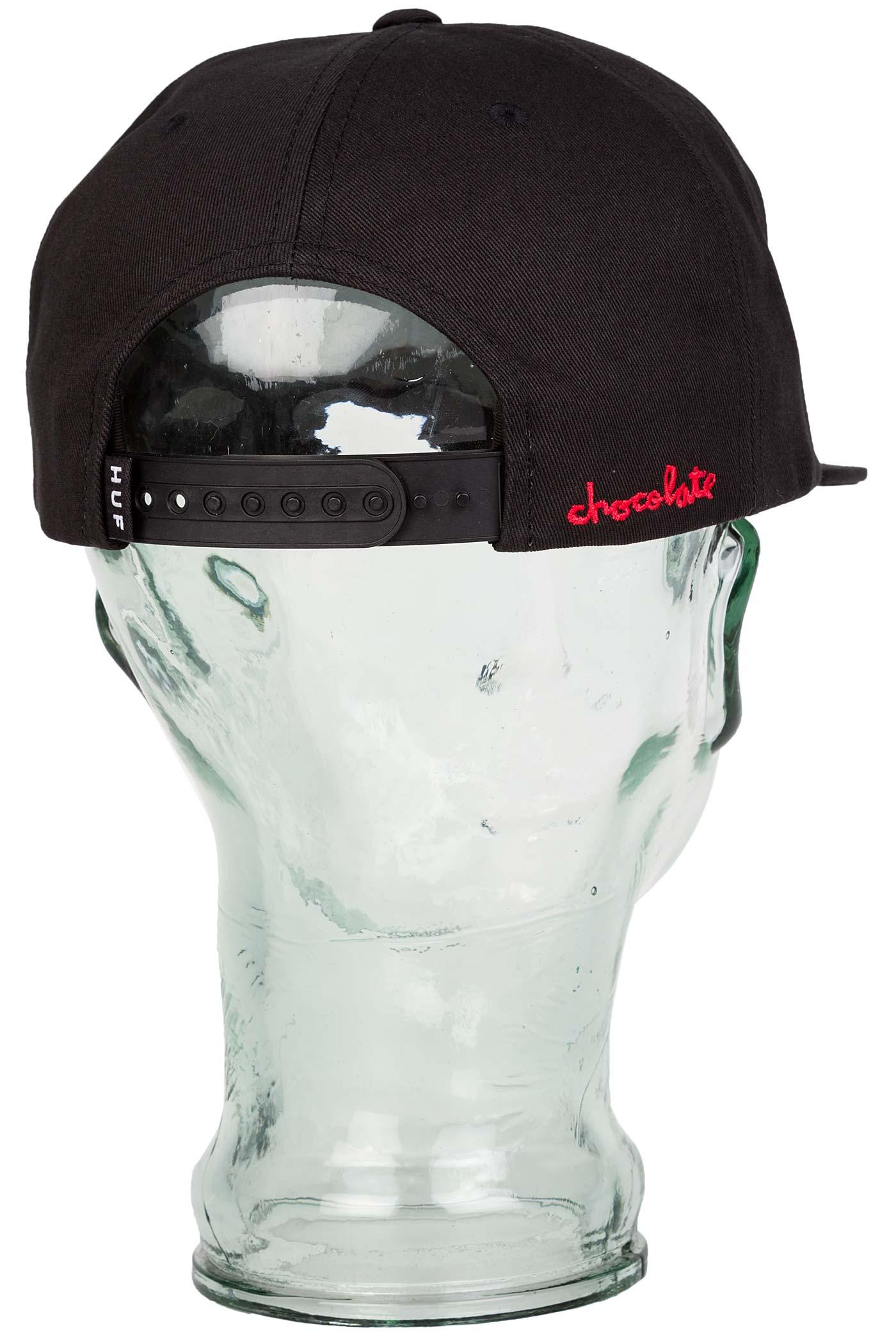 HUF x Chocolate Snapback Cap (black) buy at skatedeluxe 30d5fe4bdca