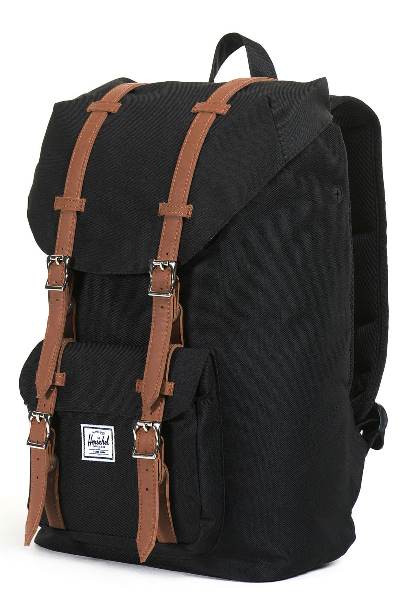 herschel little america mid backpack 17l black tan buy. Black Bedroom Furniture Sets. Home Design Ideas