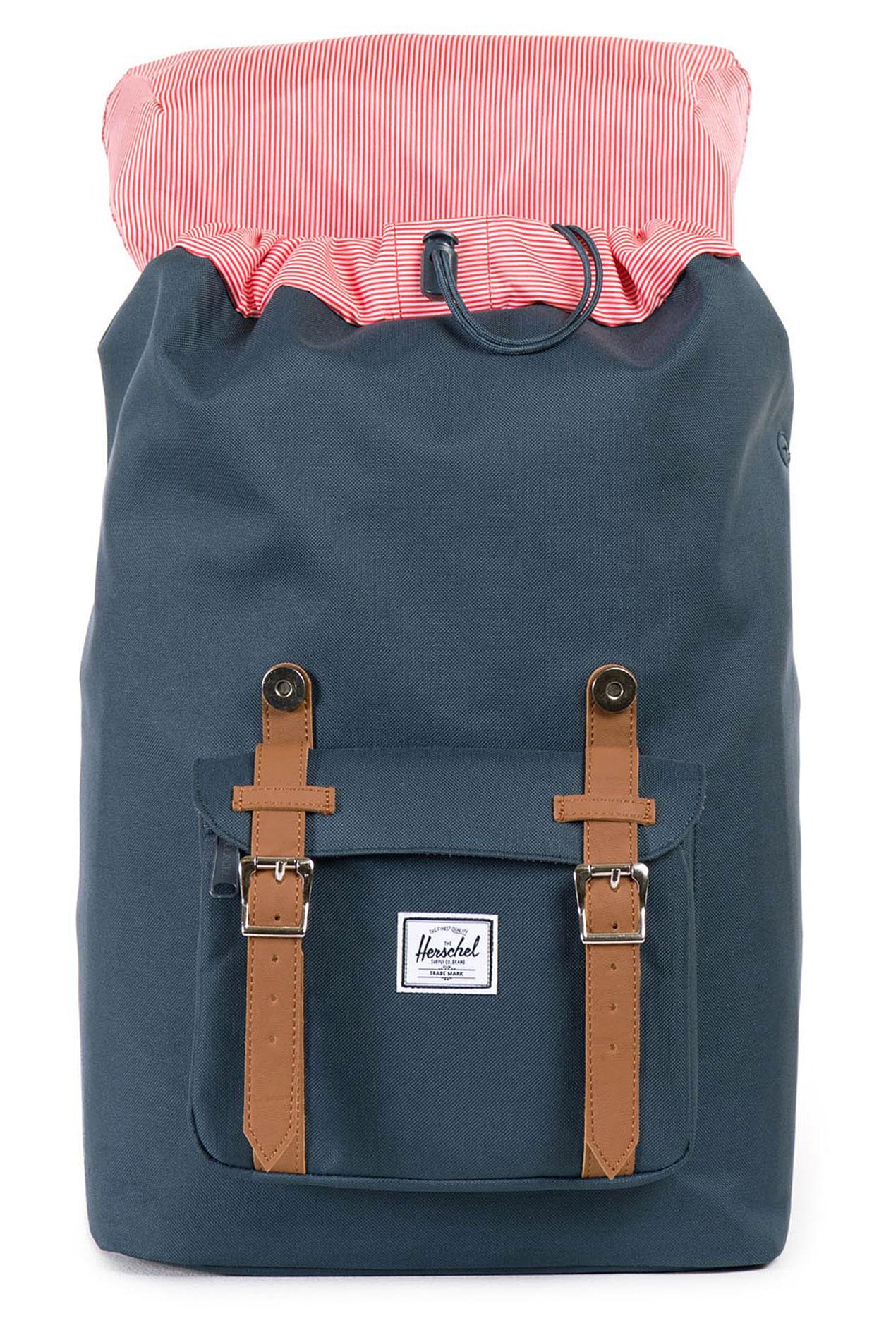 herschel little america mid backpack 17l navy tan buy at. Black Bedroom Furniture Sets. Home Design Ideas