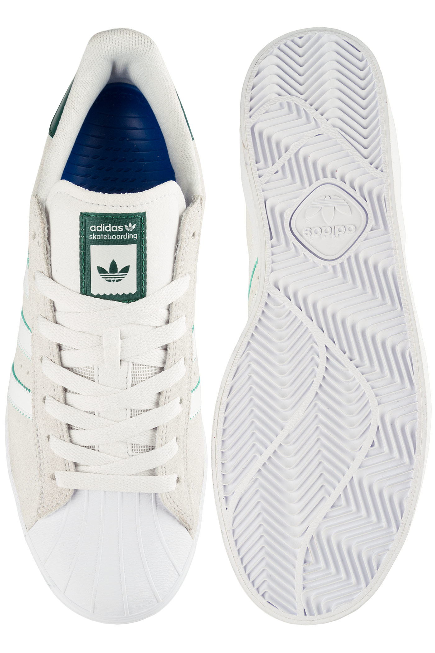 adidas Superstar Vulc ADV Shoes (crystal white white) buy at skatedeluxe 80d9ff4001