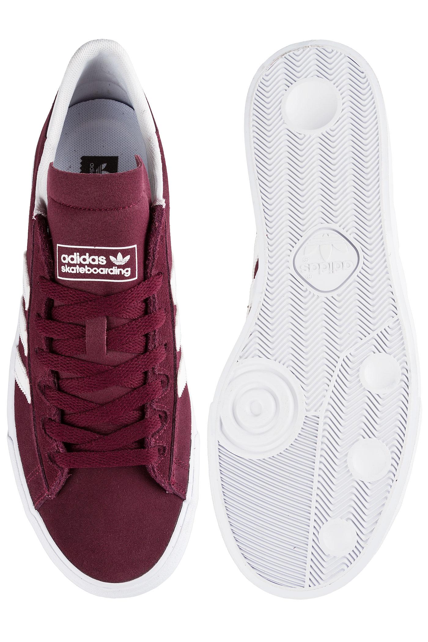 ... adidas Skateboarding Campus Vulc II ADV Shoes (maroon white white) ... 28e60e48d