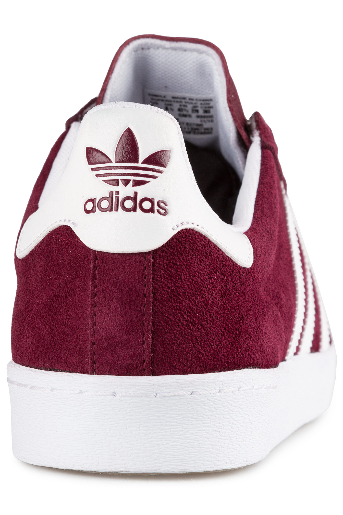 Cheap Adidas SKATE BOARDING SUPERSTAR VULC ADV maroon white