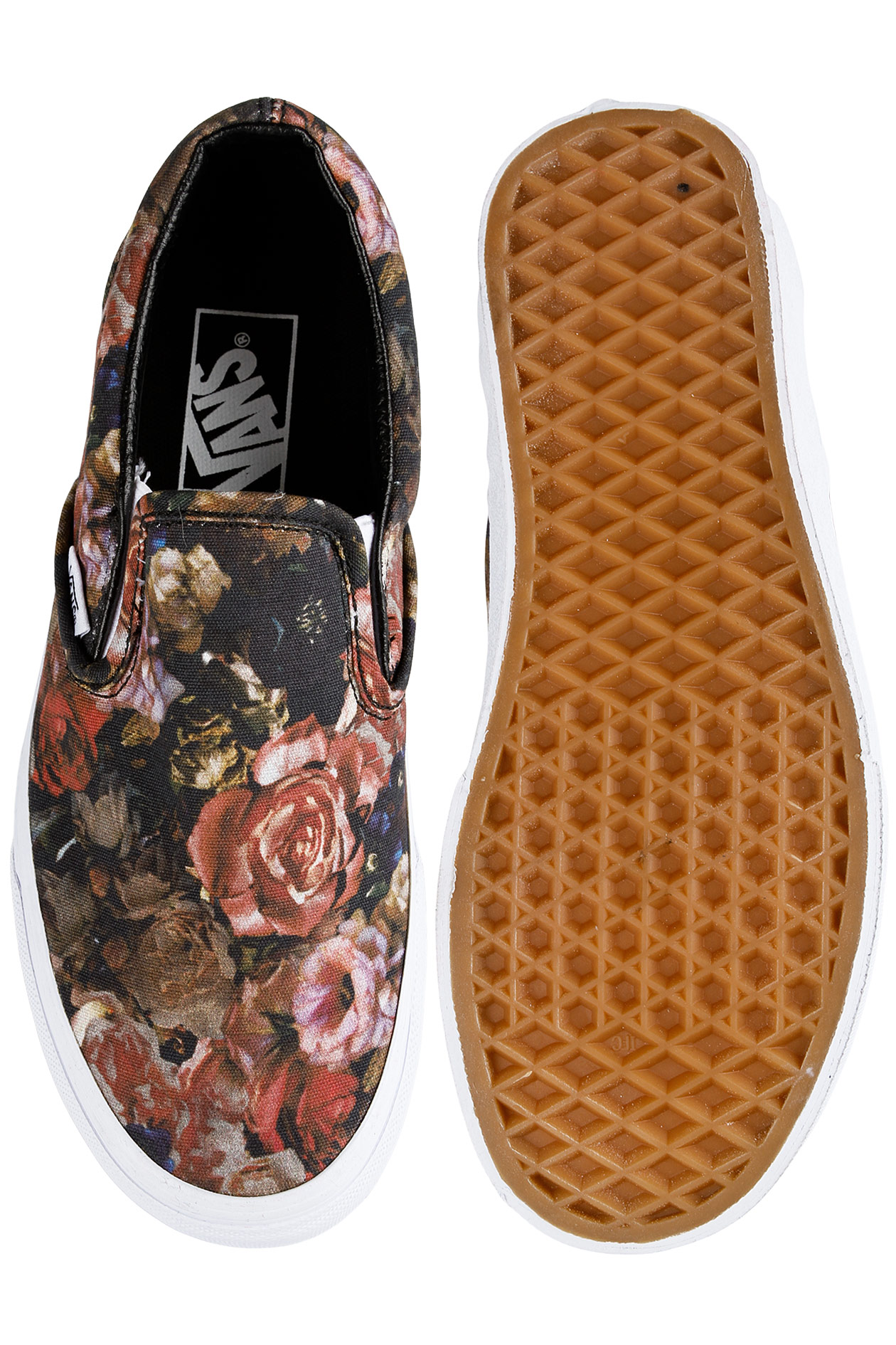 cf7ccd59e7 Vans Classic Slip-On Shoe women (moody floral black true white) buy ...