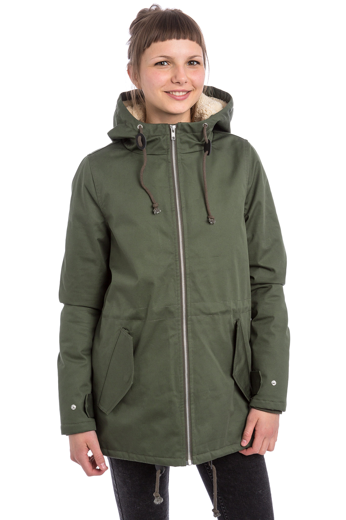 Wemoto Ella Parka Jacket women (olive) buy at skatedeluxe