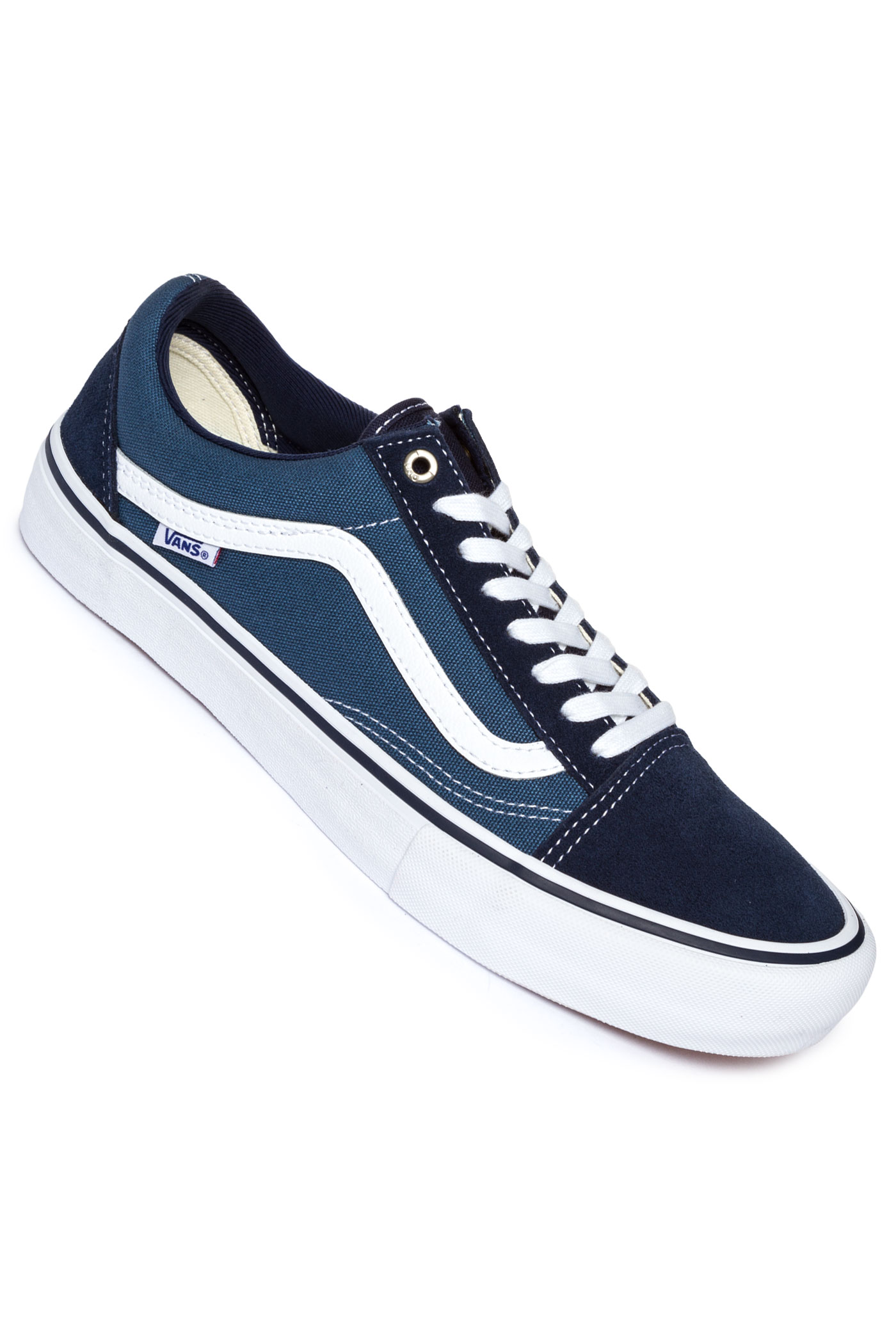vans old skool pro schuh navy stv navy white kaufen bei skatedeluxe. Black Bedroom Furniture Sets. Home Design Ideas