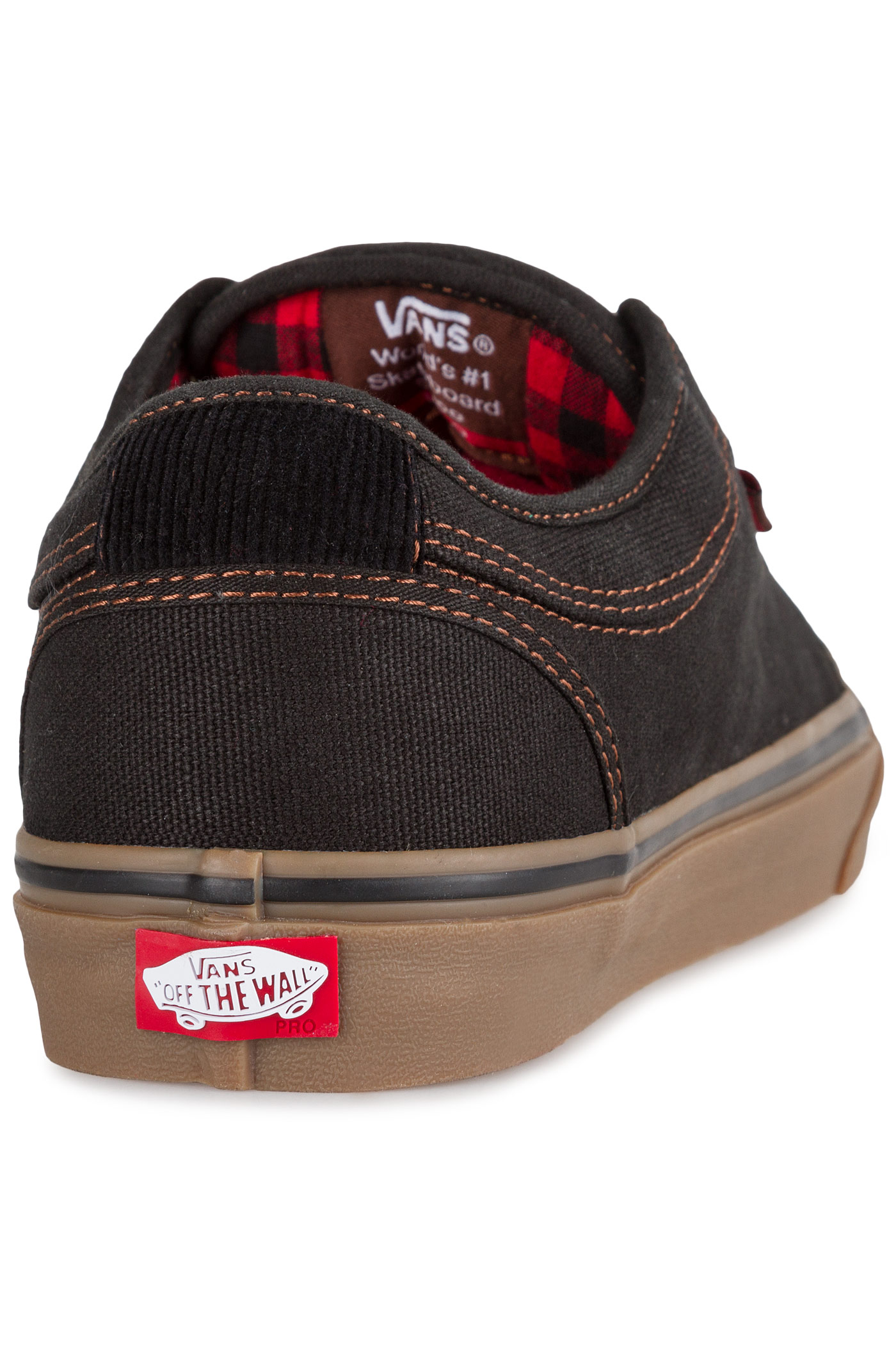 63188a6177 Vans Chukka Low Shoe (buffalo plaid black gum) buy at skatedeluxe