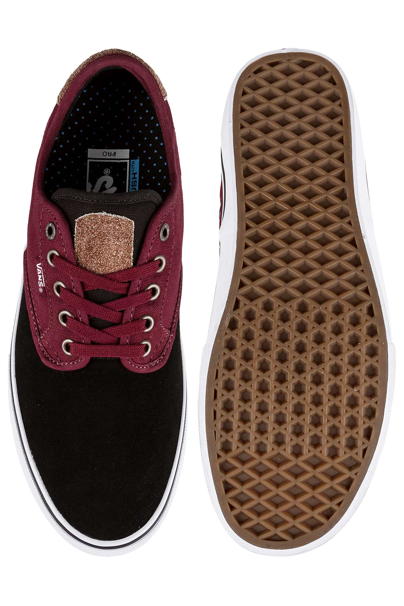 Vans Chima Ferguson Pro Shoes (two tone black port) buy at skatedeluxe 8ef7ecb86