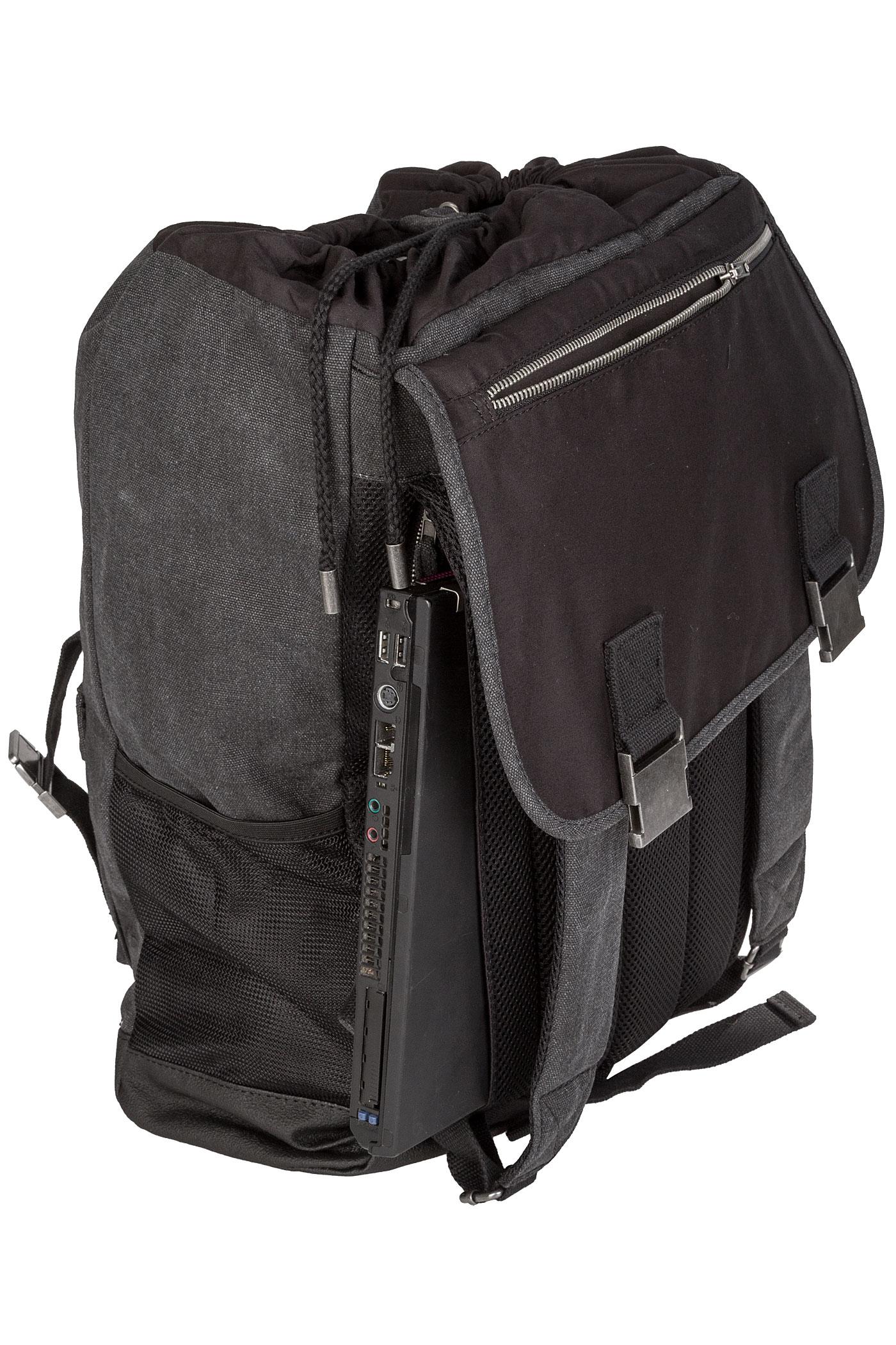 forvert cliff backpack 27 5l black buy at skatedeluxe. Black Bedroom Furniture Sets. Home Design Ideas