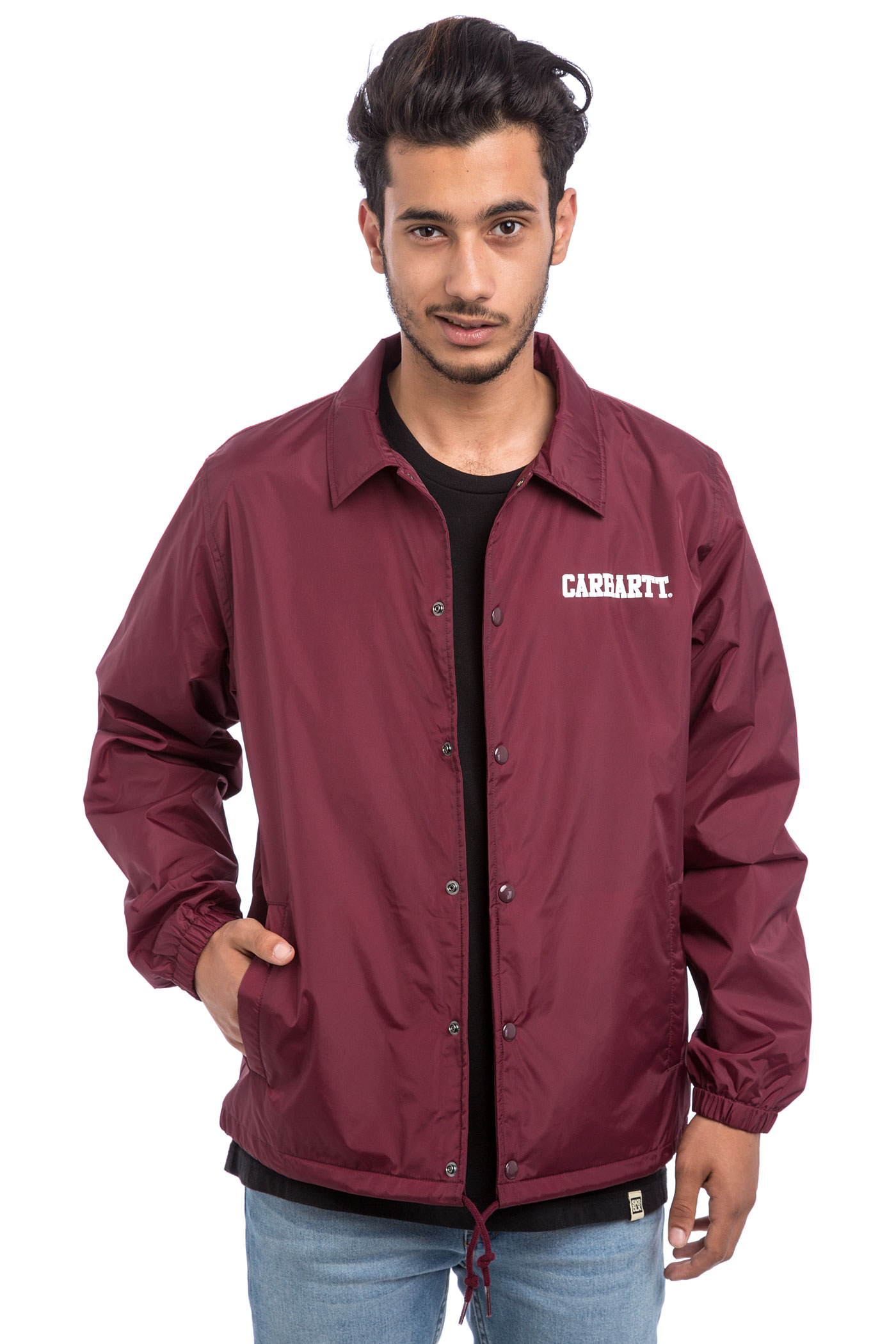 Carhartt wip college coach jacket chianti white buy at for Coach jacket