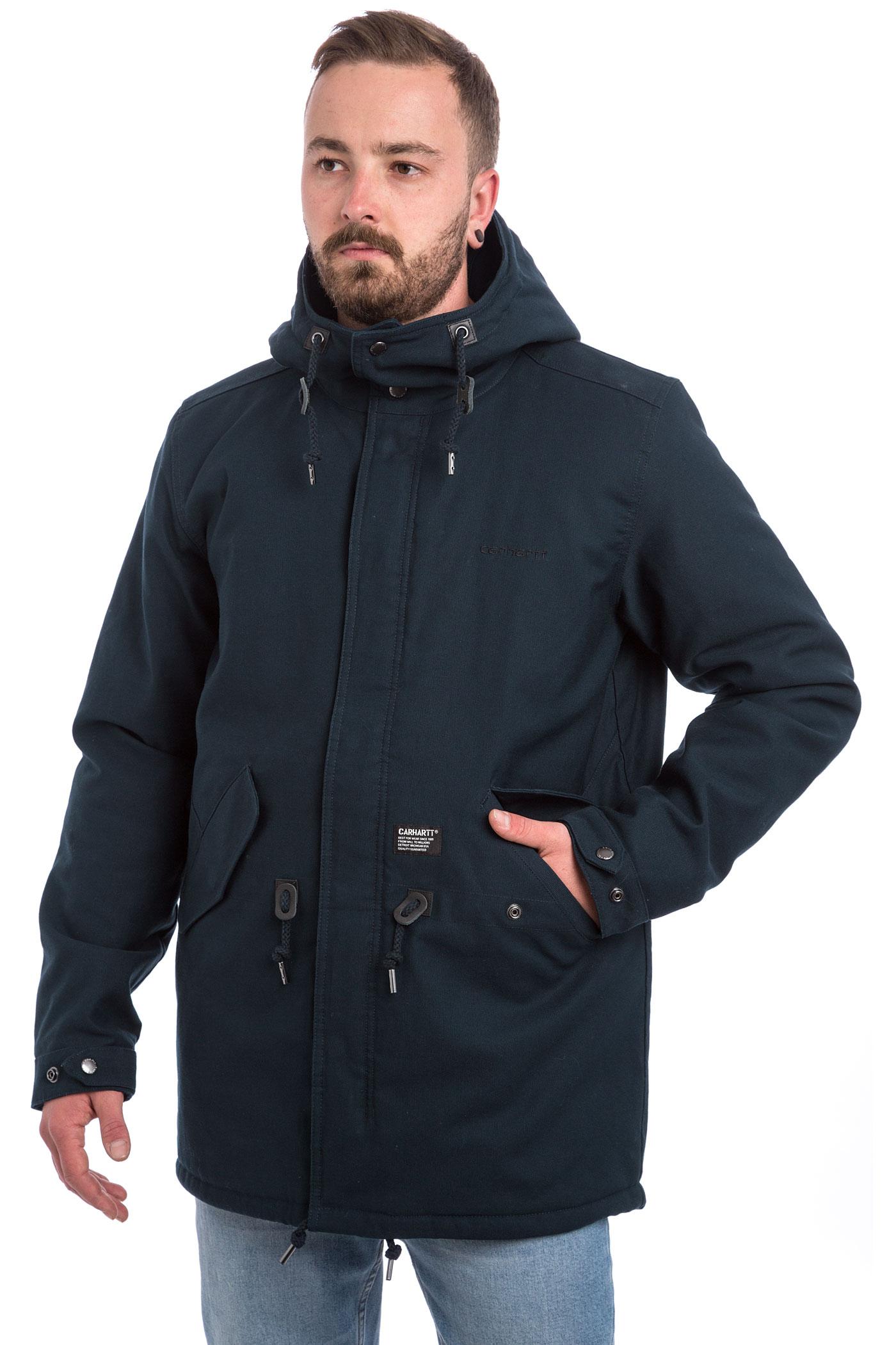 carhartt wip clash parka jacket navy buy at skatedeluxe. Black Bedroom Furniture Sets. Home Design Ideas