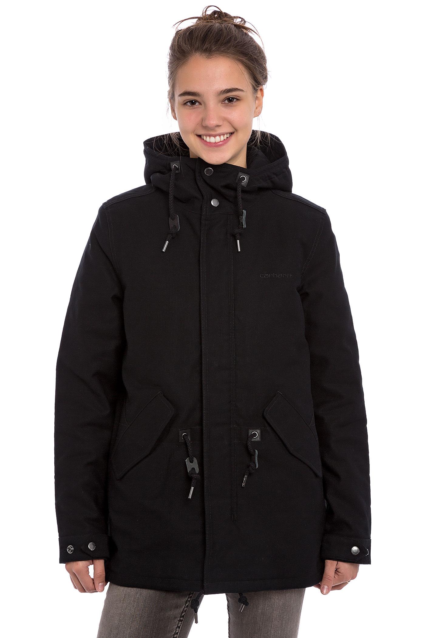carhartt wip w 39 clash parka jacket women black buy at. Black Bedroom Furniture Sets. Home Design Ideas