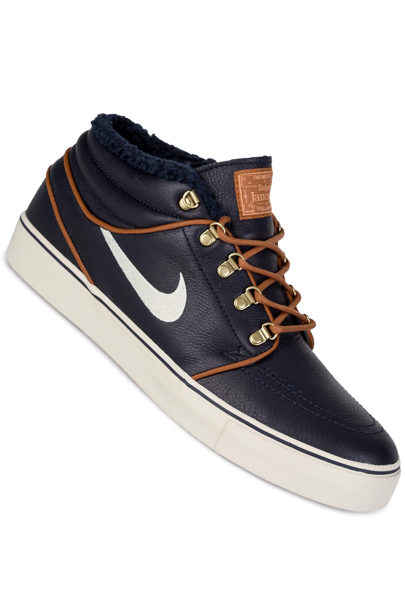 nike sb zoom stefan janoski mid premium shoes dark obsidian birch buy at skatedeluxe. Black Bedroom Furniture Sets. Home Design Ideas