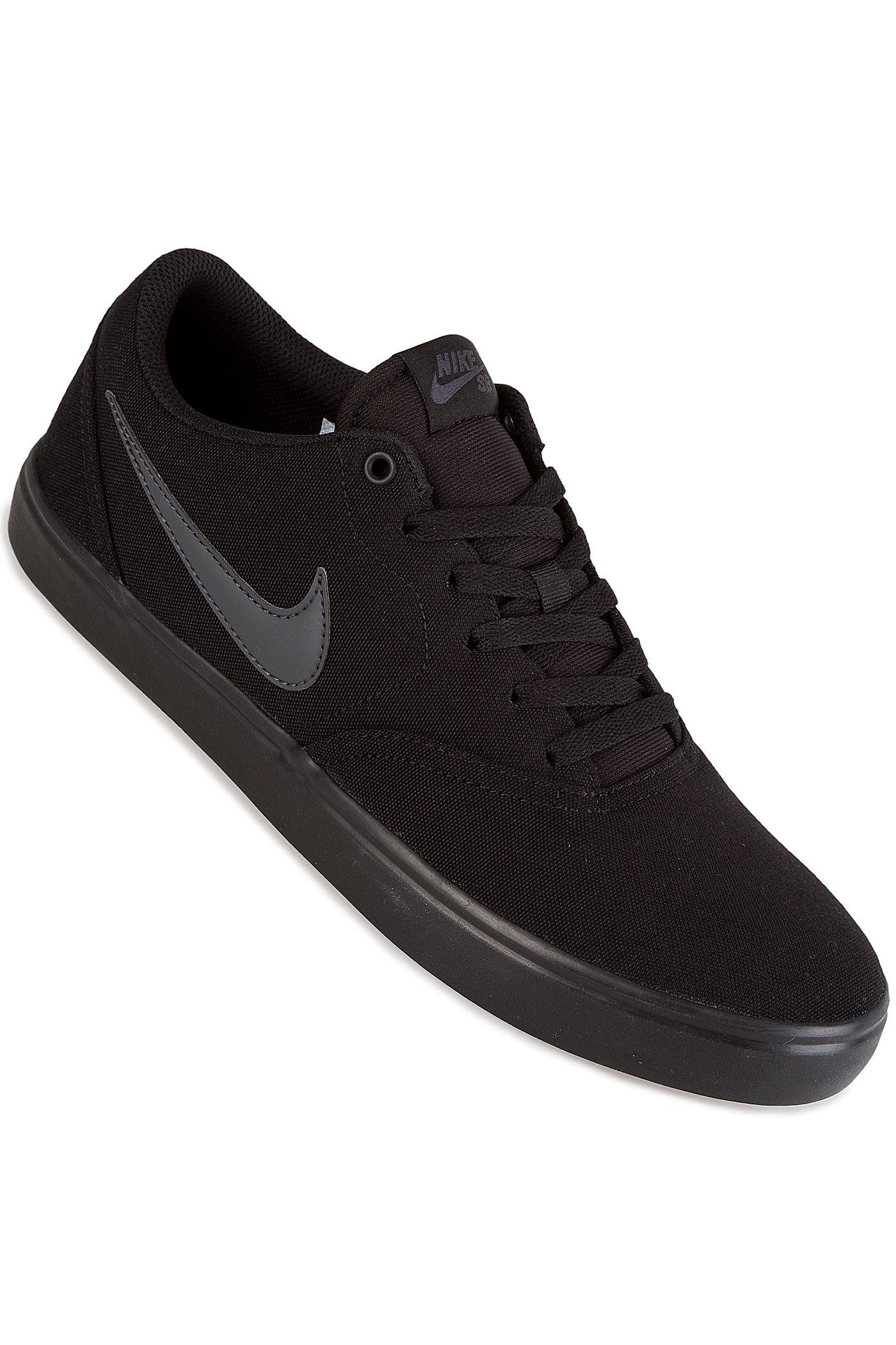 Nike Sb Check Solarsoft Canvas Shoes Black Anthracite