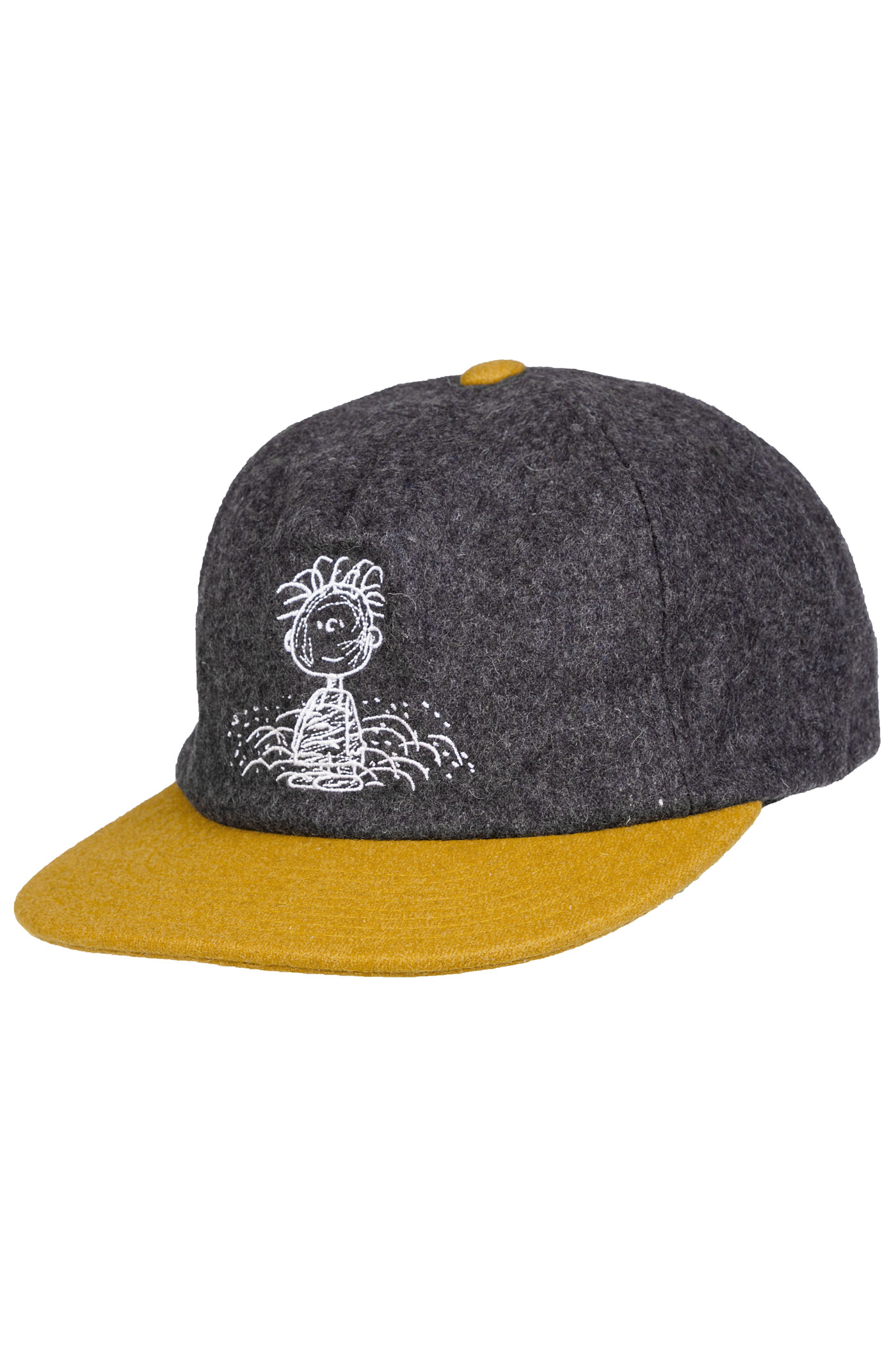 HUF x Peanuts Pigpen Snapback Cap (charcoal yellow) buy at skatedeluxe fe3947a7a8b5