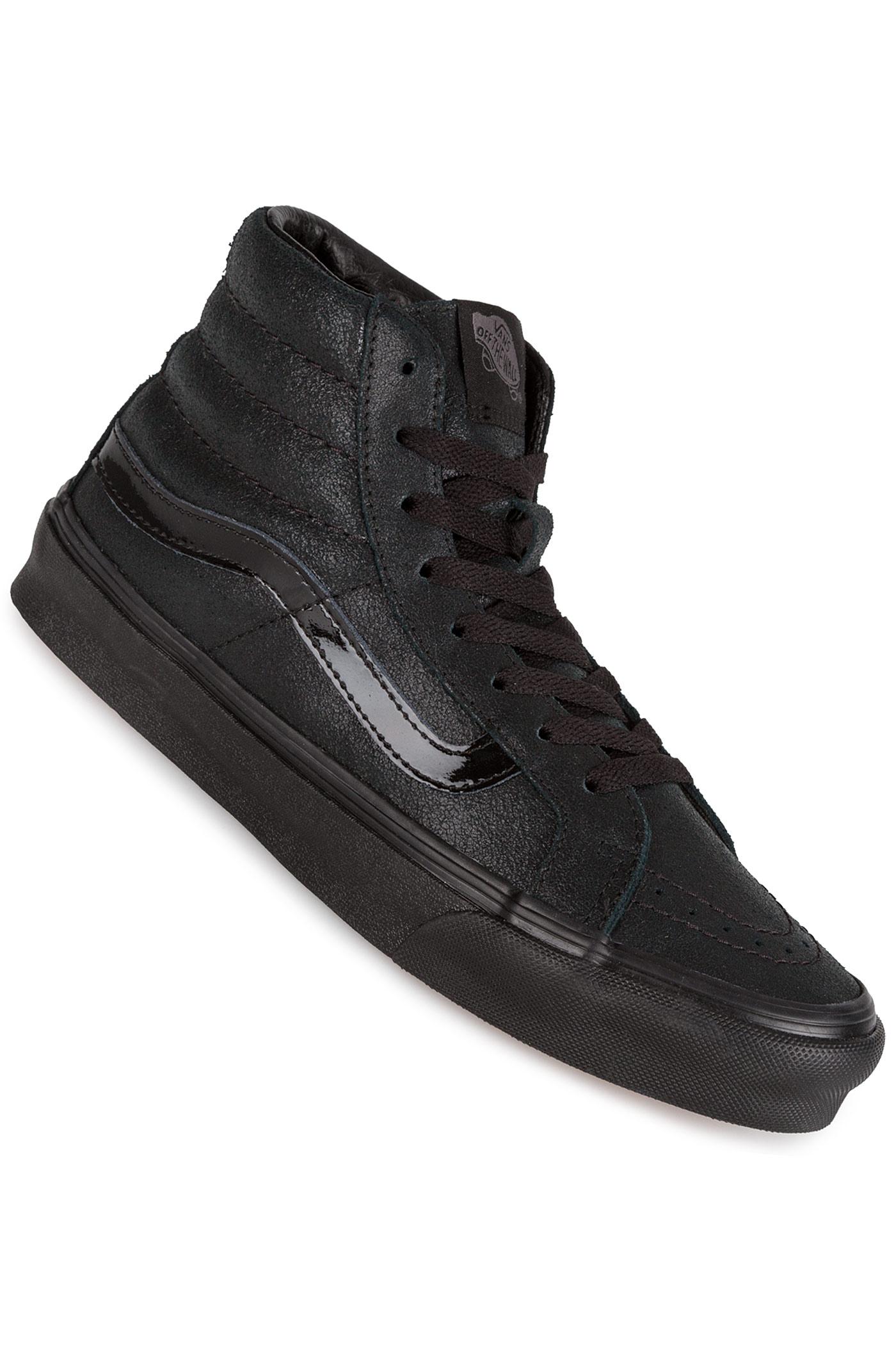 18a414eff46 Vans SK8-Hi Slim Shoe women (patent crackle black black) buy at ...