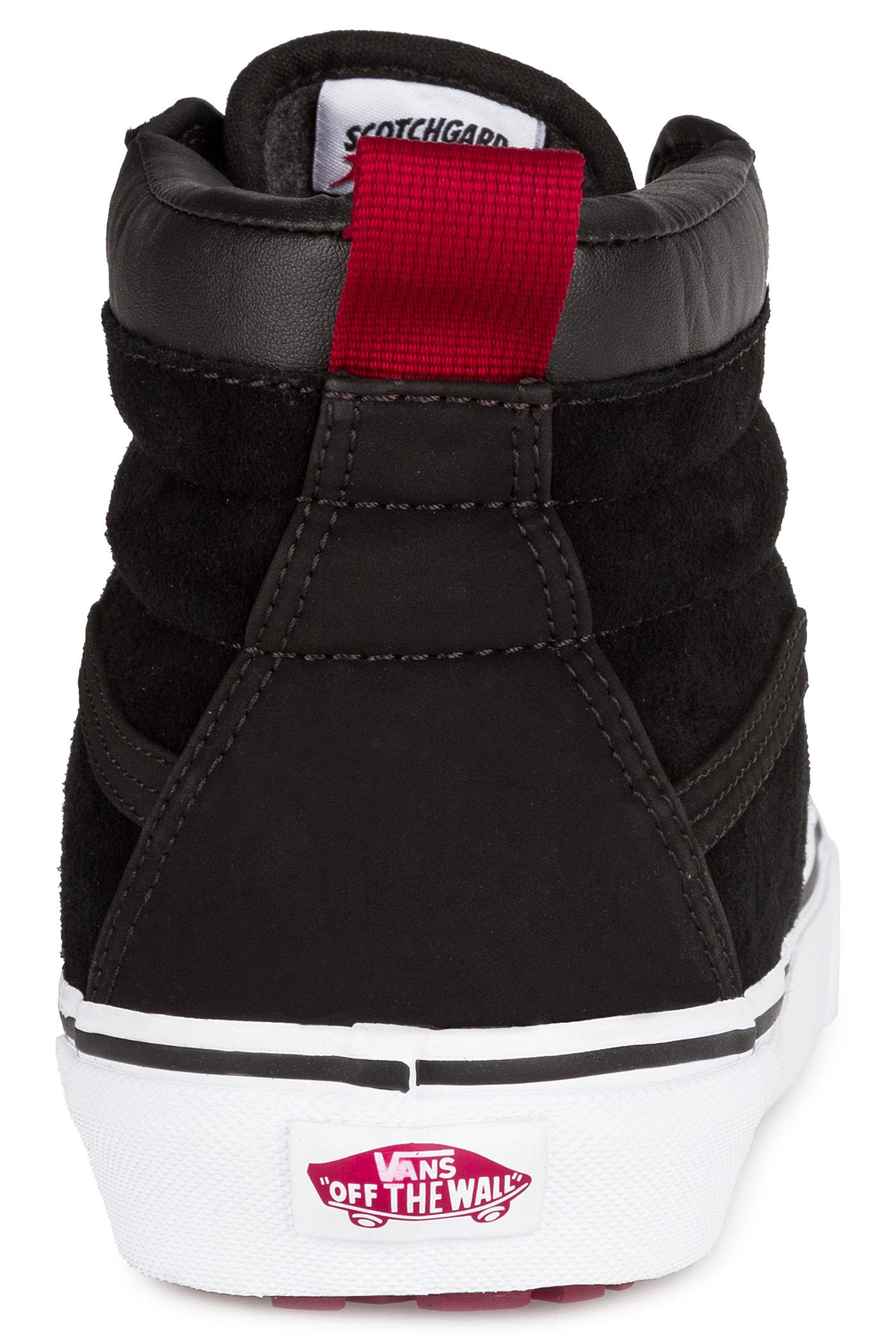 cd159a090b1 Vans Sk8-Hi MTE Shoe (black beet red) buy at skatedeluxe