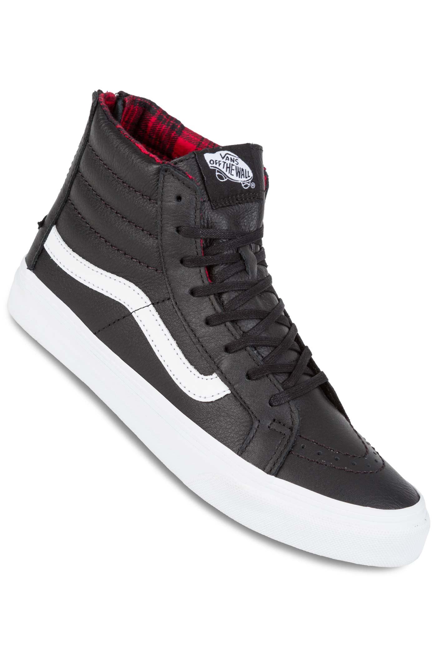 25874242f078 Vans Sk8-Hi Slim Zip Shoe women (plaid flannel black true white) buy ...