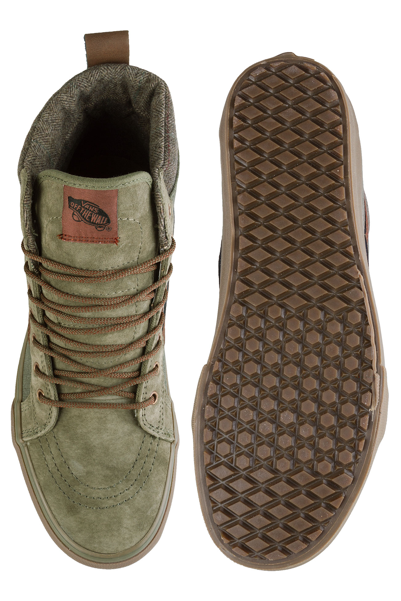 971d76d9c2d Vans Sk8-Hi MTE DX Shoe (ivy green dark gum) buy at skatedeluxe