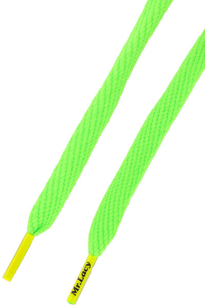 Mr. Lacy Flatties Schnürsenkel (neon green neon yellow tip)