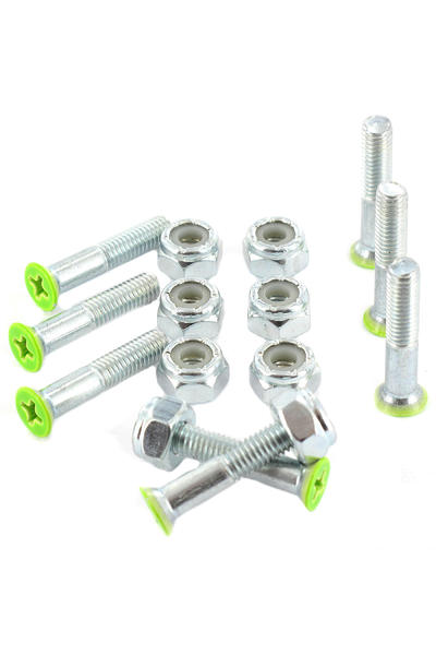 "Shortys 1"" Bolt Pack (green) Flathead (countersunk) cross slot"
