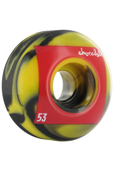 Chocolate Red Square Swirls 53mm Wheel 4er Pack