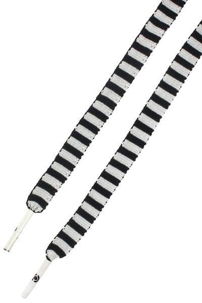 C1RCA Pattern Laces (black white stripe)