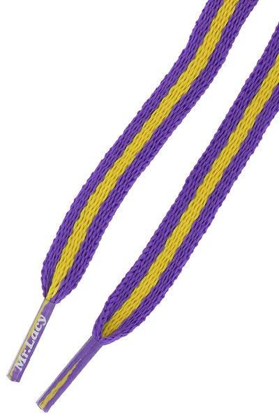 Mr. Lacy Stripies Laces (violet yellow)
